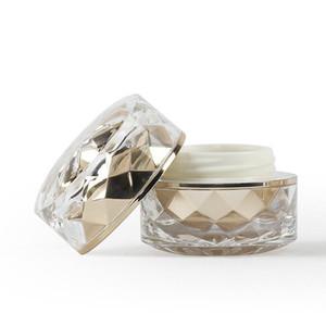 7G Emulsion Emulsion Conteneur Gold Silver Acrylique Double recharge Cosmétique Cosmétique Essence Eye Cream Jar 50 PCS / Lot