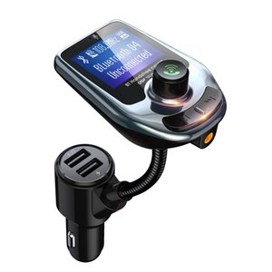 Mp3 Mp4 Players Bluetooth Car Kit D4 D5 Wireless Music Player FM Transmitter Modulator with 3.0a Dual Usb Charger Speakers AUX LCD Display