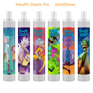 Authentic RandM Dazzle Pro Disposable Vape Pen 1100mAh Battery 2600times with RGB Light from Fumot Factory