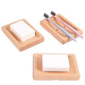 1pc Eco-friendly Natural Wood Soap Tray Bathroom Shower Soap Tray Dish Storage Stand Holder Bathroom Products