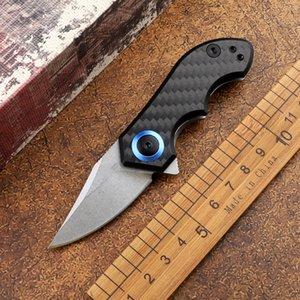 CPM-20CV blade carbon fiber handle ZT-0022 mini outdoor folding knife tactical camping hunting self-defense multi-function tool