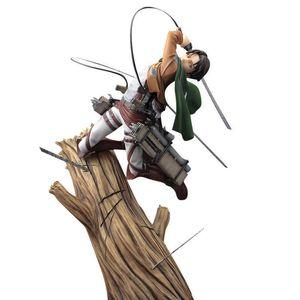 Attacco su Titan Artfx J Levi Rinnovamento Scart Stump Pacchetto 28CM Anime figure figure PVC Action Figure Toy Adult Collezione Modello Toy Doll Q0722