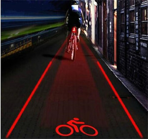 5 LED 2 Laser Bicycle Bike Logo Intelligent Rear Tail Light Safety Lamp Super Cool for Owimin Smart Cycling Red 21 W2