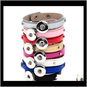 Pretty Snap Button Bracelets Fashion Noosa Chunks Leather Bracelets Ginger Snap Jewelry Charms Fit 18Mm Noosa Chunk Snaps Jewelry Ixx4 Qoyn7