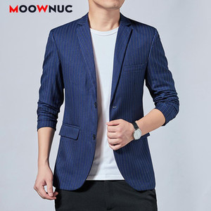 Coat Male Men's Fashion Blazer New Spring Slim Outerwear Designer Jacket 2021 Autumn Striped Business Casual Suits Classic Style