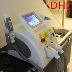 Nuevo Portátil 2 en 1 IPL OPT SHR SHR LAER Eliminación de cabello Q-Switch ND-YAG Láser Tattoo Máquina de eliminación con 2 asas