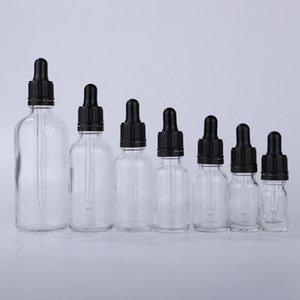 탬퍼 뚜껑이있는 엘리케 에센셜 오일에 대 한 도매 유리 빈 dropper 병