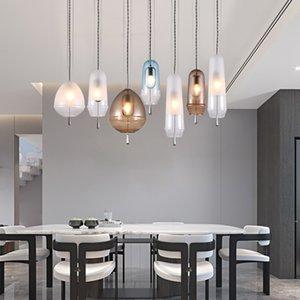 American Glass Ball Pendant Lights Iron Hoop Pendants Lamps Hang Lamp Bedroom Cafe Restaurant Bar Indoor Lighting Fixtures Decor 2635 Y2