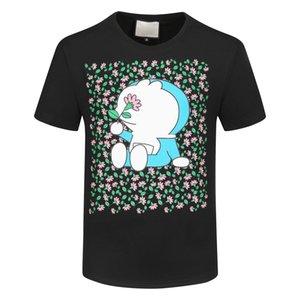 2021 Мужская Вышивка футболка Мода Персонализированные Мужчины и Женщины Дизайнеры Футболки Женские Рубашки Высокое Качество Черный Белый 100% CT C1