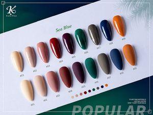 Nail Polish 8ml 9PC nail gel polish Sea Blue Colors Art Gel Varnish Soak Off UV LED Semi Permanent Varnishes