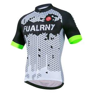 Fualrny Herren Radfahren Jersey 2021 Sommer Kurzarm Atmungsaktive Pro-Team Fahrrad Radsporthemd Downhill MTB Rennrad Jersey
