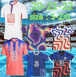 Тайская версия и тренировочный костюм 20 21 футбол для футбола Pulisic 20-21-22 Abraham Mount Willian Lampard Pedro Футбольная рубашка Hudson Odoi Kante