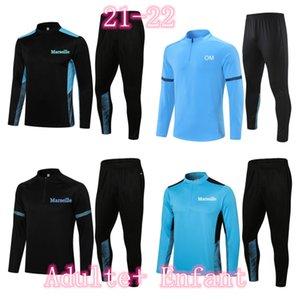 2020 2021 Tracksuits jogging Men Football Training Suits 20 21 Marseille MBAPPE Survetement Soccer Tracksuit Maillots de Foot Chandal Kit
