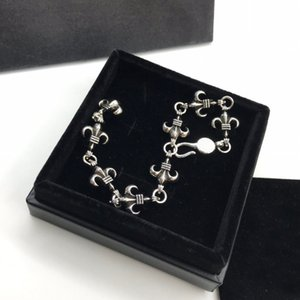 Fashion Anchor cross bracelet for mens and women trend personality punk cross style Lovers gift hip hop jewelry with box NRJ