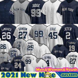 99 Aaron Judge Jersey Baseball 2 Derek Jeter 45 Gerrit Cole 26 Nuovo DJ Lemahieu York Giancarlo Stanton Gleyber Torres Gio Urshela Aaron Hicks