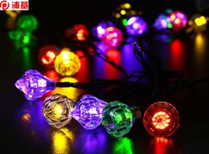 Cute Solar Diamond Garland Fairy String Lights Lamp 20LED 4.8M LED Fairy Lamps For Wedding Festival Party Garden Decoration