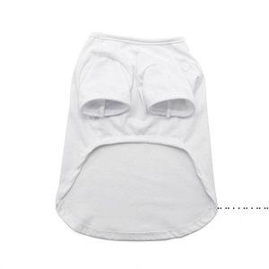 Sublimation Blank White DIY Vest Pet Dog Sleeveless Thin Vest Small Pet Heat Transfer Print Pet T-shirt FWC6358