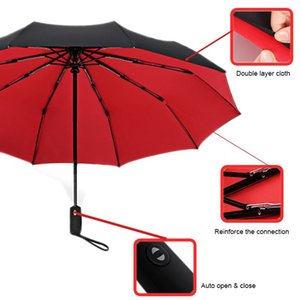 Umbrellas Umbrella Parasol Women's Sun Automatic Folding Ten Bone Reinforced Male Female Windproof Double Rain