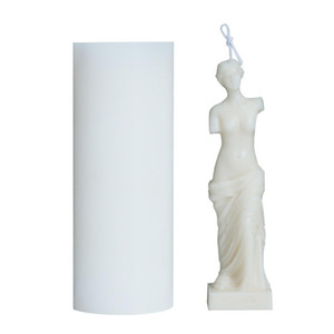 Art Body Candle Mold Female Candle Silicone Mold Fragrance Human Shaped Goddess Candle Making Wax Plaster Mould Handmade