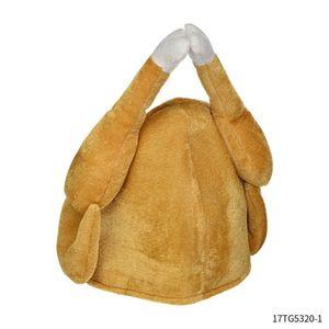 Decoration European and American Carnival Turkey Leg Thanksgiving Veet Hat