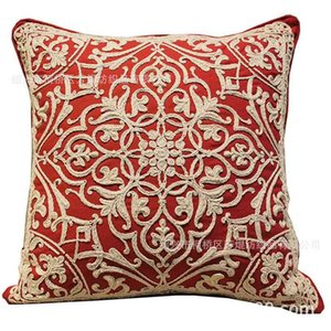 Pillow Case Nordic cotton rope ribbon cover line embroidery sofa cushion car pillowPillow Case H7J5