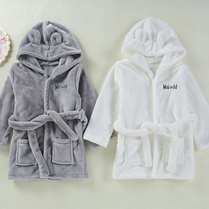 Ins Flanell Home Wear Shouling Children's Robe Baby Bademantel