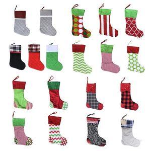 Christmas Decoration Xmas Stockings Sequin Xmas-Socks Christmas-Tree Pendant Ornament Fireplace Candy Gift Bag T9I001433