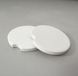 Süblimasyon Boş Araba Seramik Bardak 6.6 * 6.6 cm Sıcak Transfer Baskı Coaster Boş Sarf Malzemeleri Fabrika Fiyatı WWA215
