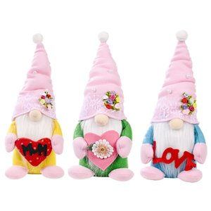 Party Favor Mother's Day Gnome Plush Toy MUM Flowers Dwarf Faceless Doll LOVE Ornaments Kids Toys Gifts