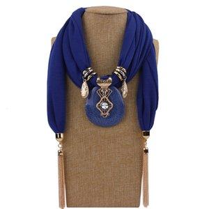 Düz Kolye Mücevherat Eşarplar Yaz Boyun Giyim Aksesuarları Reçine Takı Kolye Şallar Yüzük Fringe Stock Farf 08UI