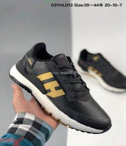 Chaussures de course à jogger Nite Triple Noir Blanc Reflectif Xeno Choc gris Femme Hommes Baskets Sports de plein air 36-45