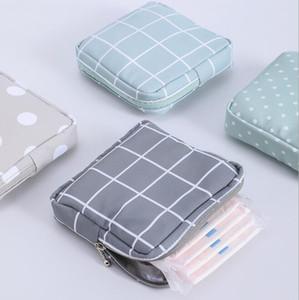DHL200PCS Münze Geldbörsen Frauen Polyester Blank Checker Drucke Quadratisch Protable Aufbewahrungstasche Mix Farbe