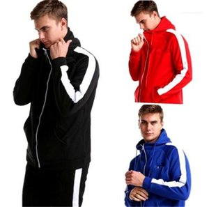 Designer 2Pcs Tracksuits Tick Print Solid Color Sports Style Homme Clothing Fashion Luxury Casual Apparel Mens Autumn