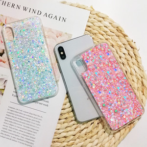 Luxury Glitter Sequins Soft Shockproof Silicone Case Cover for IPhone 11 Pro Xr Xs Max X 8 7 Plus 6 6S SE 2020 12 Mini Protective Covers
