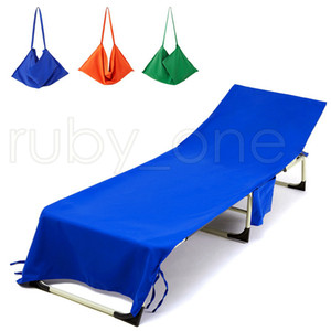 New Beach Chair Cover 13 Colors Lounge Chair Cover Blankets Portable With Strap Beach Towels Double Layer Thick Blanket RRA4119