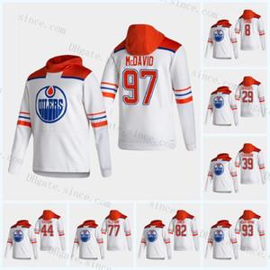 맞춤식 Connor McDavid Edmonton oilers 2021 Reverse Retro Hoodie Colby Cave Leon Draisaitl Ryan Nugent-Hopkins Gretzky 간호사 Kassian Barrie