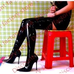 12CM High Height Sex boots Women's Boots Pointed Tops Stiletto Heel OVER-The-Knee Boots No.1250B