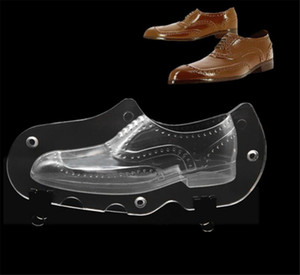 Leather Men Plastic 3D Shoe Chocolate Mold Candy Cake Molds Cake Decorating Tools DIY Home Baking Sugar Craft Accessories