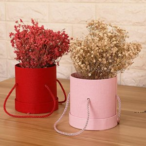 new1Pc Round Flower Paper Boxes Hold The Bucket Gift Packaging Box Party Gift Box Candy Bar Party Wedding Storage1 EWA5191