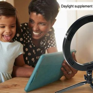 Flashes 10 Inch Led Selfie Light Ring Camera Phone Holder Makeup Lamp Pography Stand Mini Mode O3P7