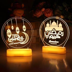 NEW Eid Mubarak Decor Ornament Light Eid Kareem Ramadan Decor for Home Ramadan Mubarak Eid Al Adha Islamic Muslim Party Decor