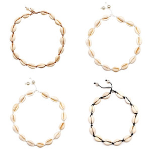 Vsco Девушки Ожерелье Ожерелье Ожерелье для Женщин Choker Ожерелье Браслеты Лодыжки Летние Бич Ювелирные Изделия Ошейник Boho Anklet 122 R2