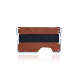 Creative Casual Rfid Slim Wallet Card Holder Metal Wallet For Credit Cards Multifunction Rfid Wallet Mini Id Car jllkvh