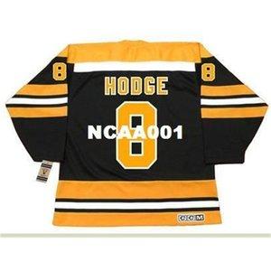 001s # 8 Ken Hodge Boston Bruins 1974 CCM Jersey da hockey vintage o personalizzato qualsiasi nome o numero di maglia retrò