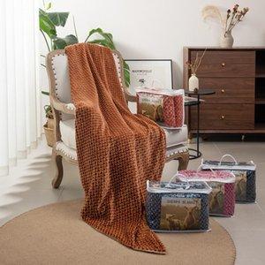Doppia coperta di flanella di alta qualità della flanella del pranzo del pranzo del pranzo dell'aria condizionata del cuote del pisolino del corallo d'autunno dell'inverno