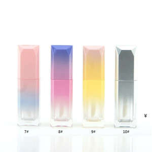 Gradient Color Empty Lipgloss Tube 5ml Refillable Lip Gloss Bottles with Wand Reusable Sample Bottle Lip Balm Containers HWA3592