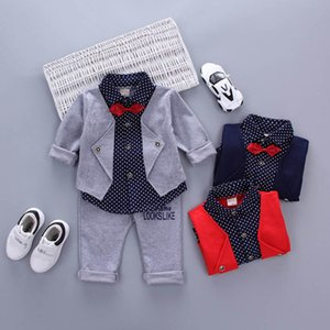Boy Suit Boys Clothing Sets Children Set Children Clothing Baby Boy Clothes Cotton Long Sleeve Shirts Trousers 2Pcs 0-3Y B4244