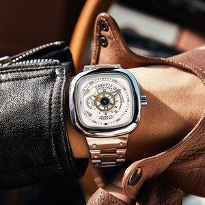 2021 Nuovo Kartiv Black Square Guarda l'orologio automatico Tourbillon Hollow Mechanical Guarda le donne Venerdì