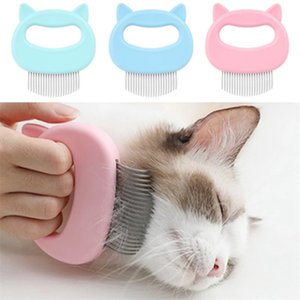 Pet Massage Combs Brush Shell Shaped Handle Pets Grooming MassageTool To Remove Loose Hairs Only For Cats WLL923