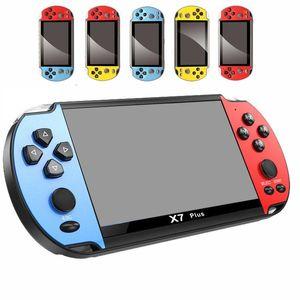 X7 Plus Video Game Player 5.1 pulgadas para GBA Handheld 8GB Game Console Juegos Retro LCD Pantalla LCD 5.1 pulgadas Jugador de juegos para hombres Mujeres Niños DHL